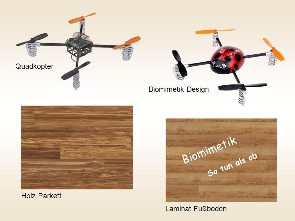 Quadkopter Biomimetik Design Holz ParkettLaminat Fußboden Biomimetik So tun als ob