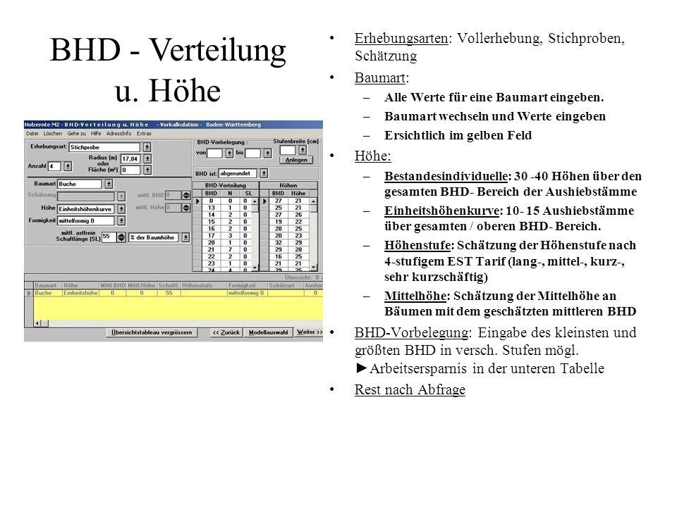 Die Güteansprache ist eigentlich nur das Übertragen der im Bestand aufgenommenen Daten in diese Eingabemaske.