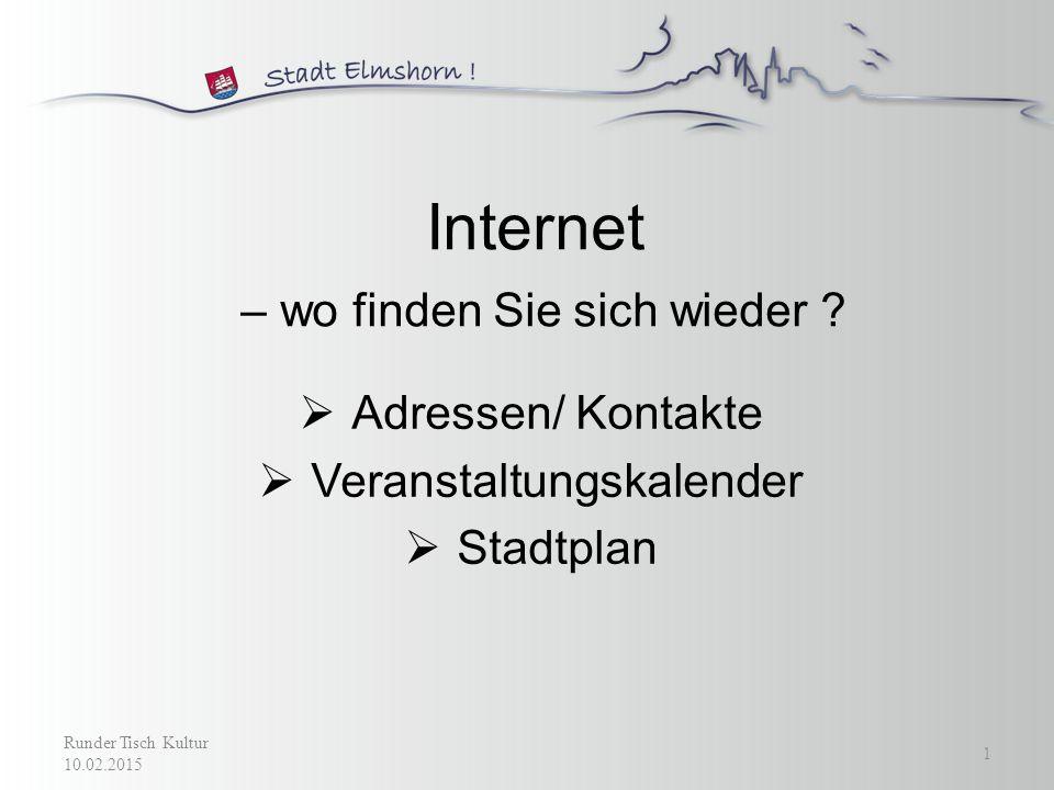 Internet – wo finden Sie sich wieder .