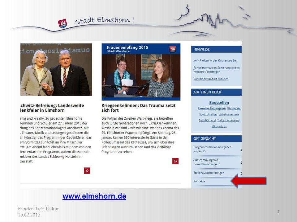www.elmshorn.de Runder Tisch Kultur 10.02.2015 3