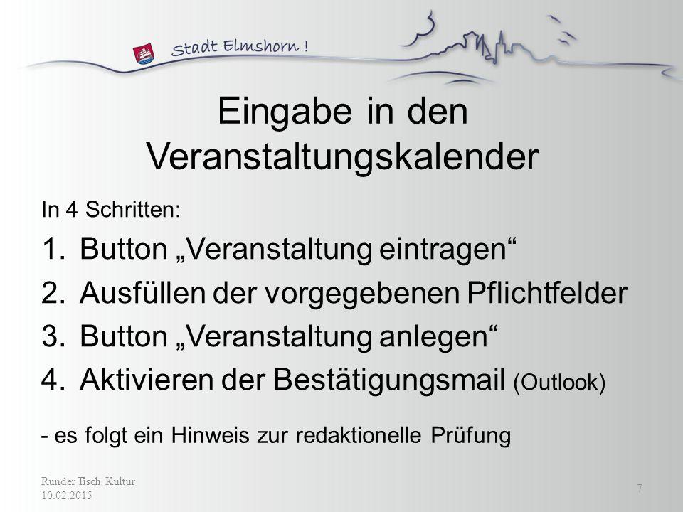 Runder Tisch Kultur 10.02.2015 8