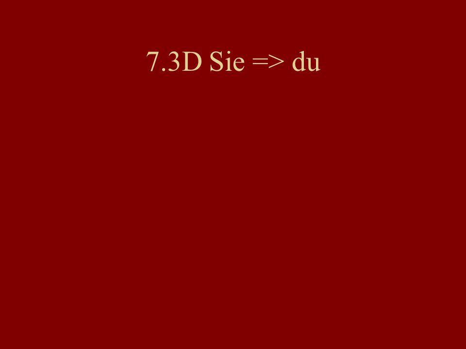 7.3D Sie => du