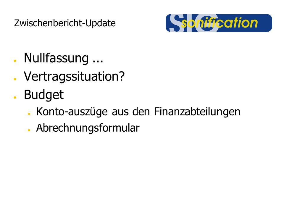 Zwischenbericht-Update ● Nullfassung... ● Vertragssituation.