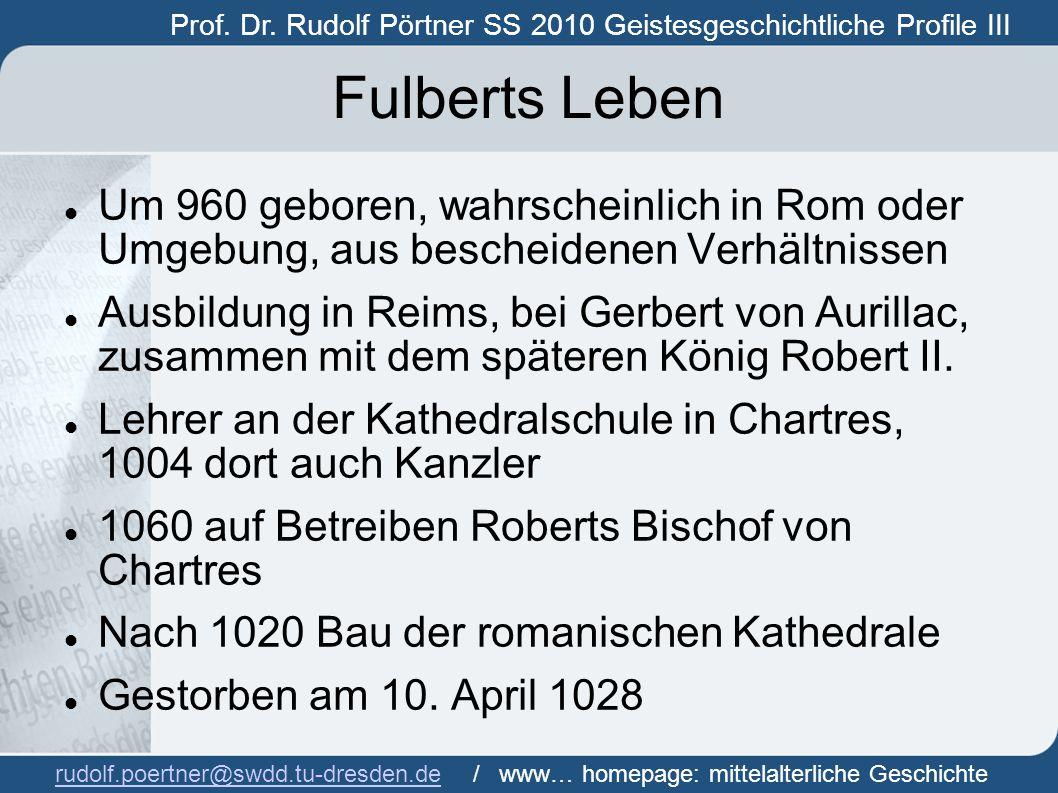 Prof.Dr. Rudolf Pörtner SS 2010 Geistesgeschichtliche Profile III Prof.