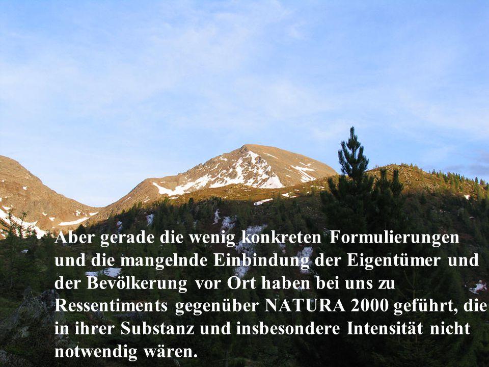 """Ein wichtiger Schritt in der Öffentlichkeits- arbeit war die Herausgabe des Folders """"Natura 2000 in Kärnten Ende 2004."""