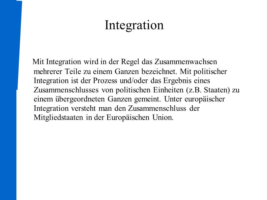 Vertiefung der EU Änderung des Grundvertrages Durch die Änderungen des EWG-Vertrages von 1957 ist die EWG zur EG und weitere Politikbereiche zuständig geworden; das Europäische Parlament ist in die Entscheidungen mit einbezogen worden Gründung der EU Einführung des Euros
