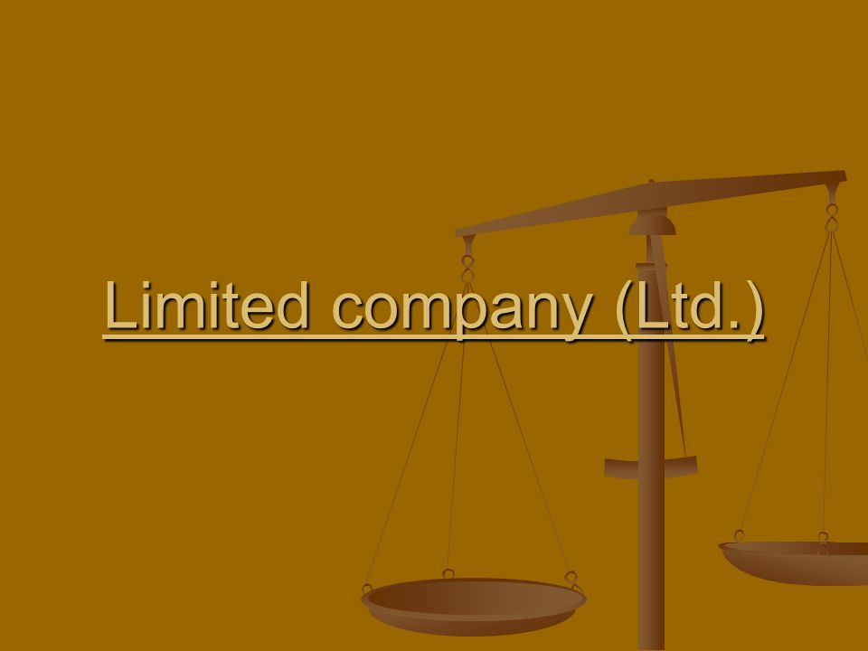 Limited company (Ltd.)