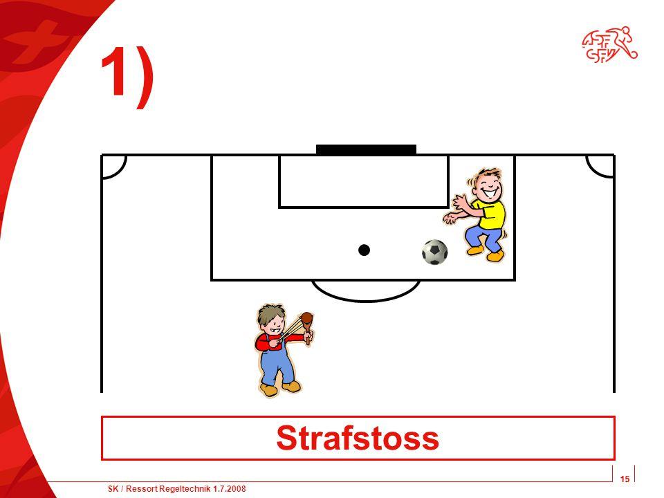 15 SK / Ressort Regeltechnik 1.7.2008 15 1) Strafstoss