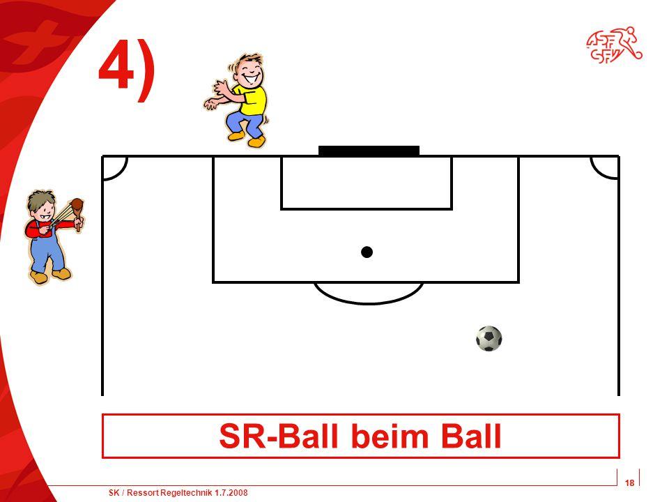 18 SK / Ressort Regeltechnik 1.7.2008 18 4) SR-Ball beim Ball