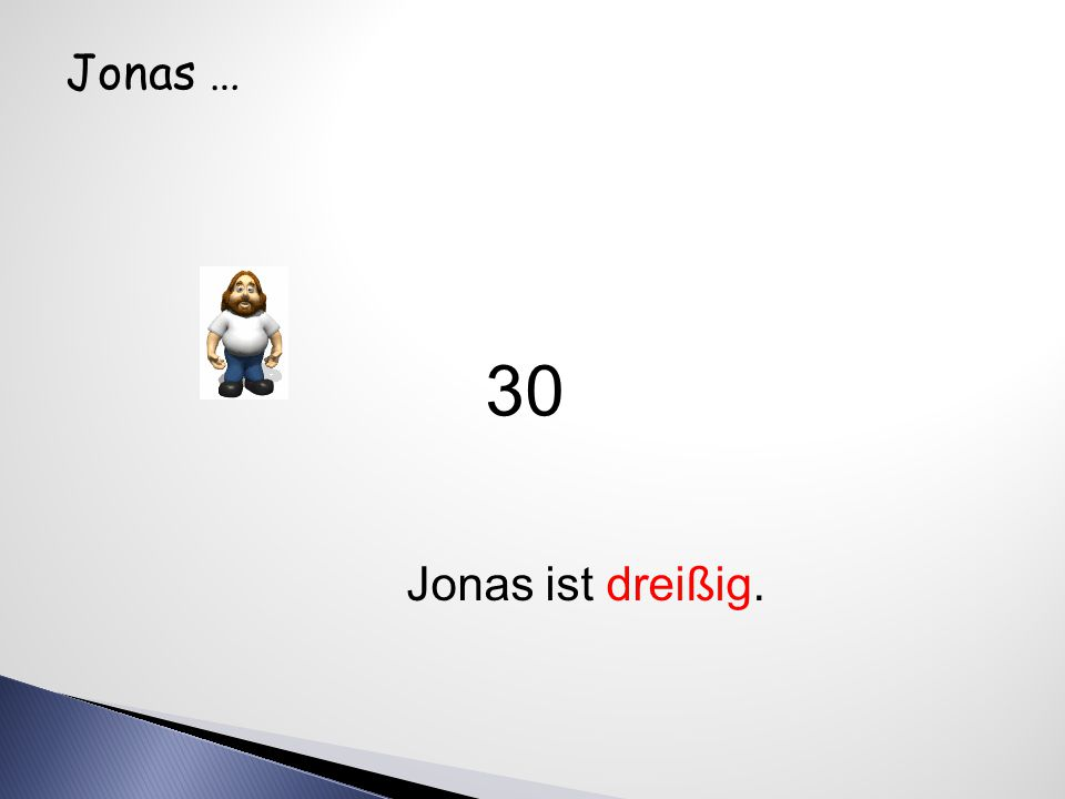 Judith … Judith ist zwanzig. 20