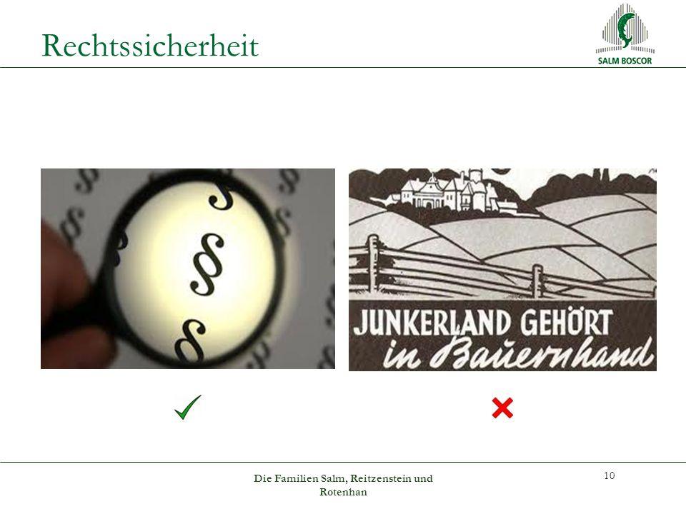 Rechtssicherheit 10 Die Familien Salm, Reitzenstein und Rotenhan