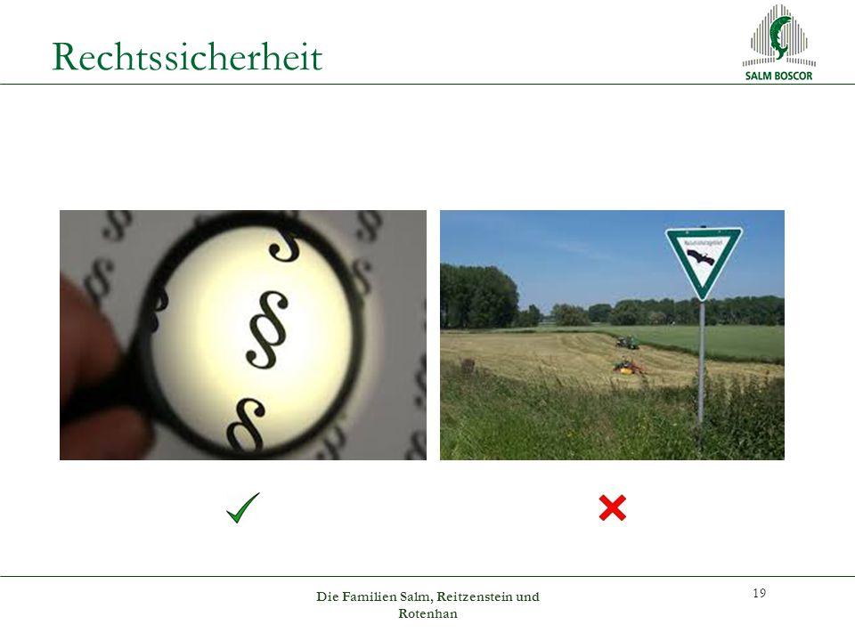 Rechtssicherheit 19 Die Familien Salm, Reitzenstein und Rotenhan