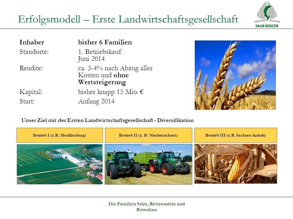 Erfolgsmodell – Erste Landwirtschaftsgesellschaft Betrieb I (z.B.