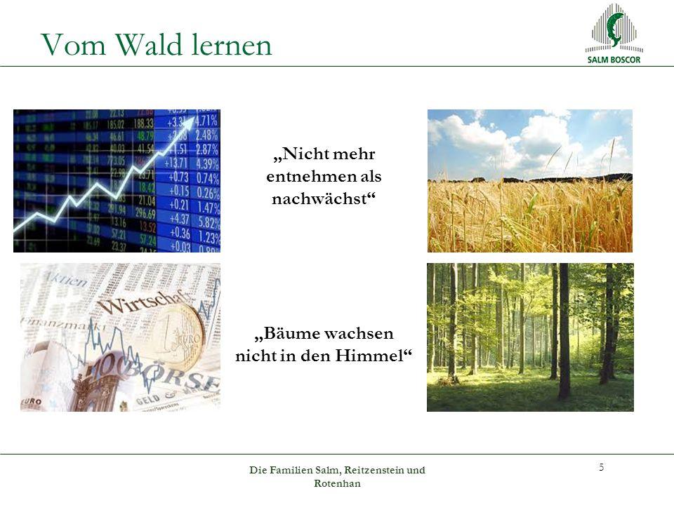 """Vom Wald lernen """"Nicht mehr entnehmen als nachwächst """"Bäume wachsen nicht in den Himmel 5 Die Familien Salm, Reitzenstein und Rotenhan"""