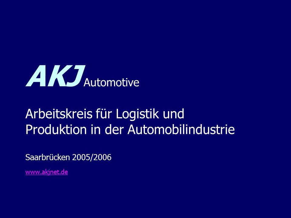 AKJ Automotive Arbeitskreis für Logistik und Produktion in der Automobilindustrie Saarbrücken 2005/2006 www.akjnet.de