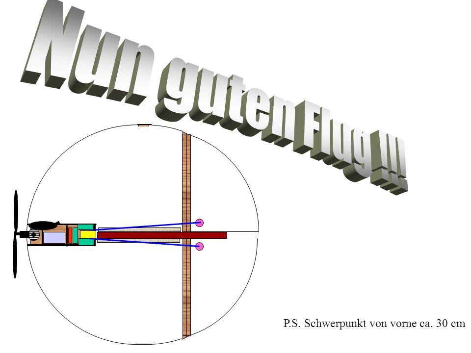 P.S. Schwerpunkt von vorne ca. 30 cm