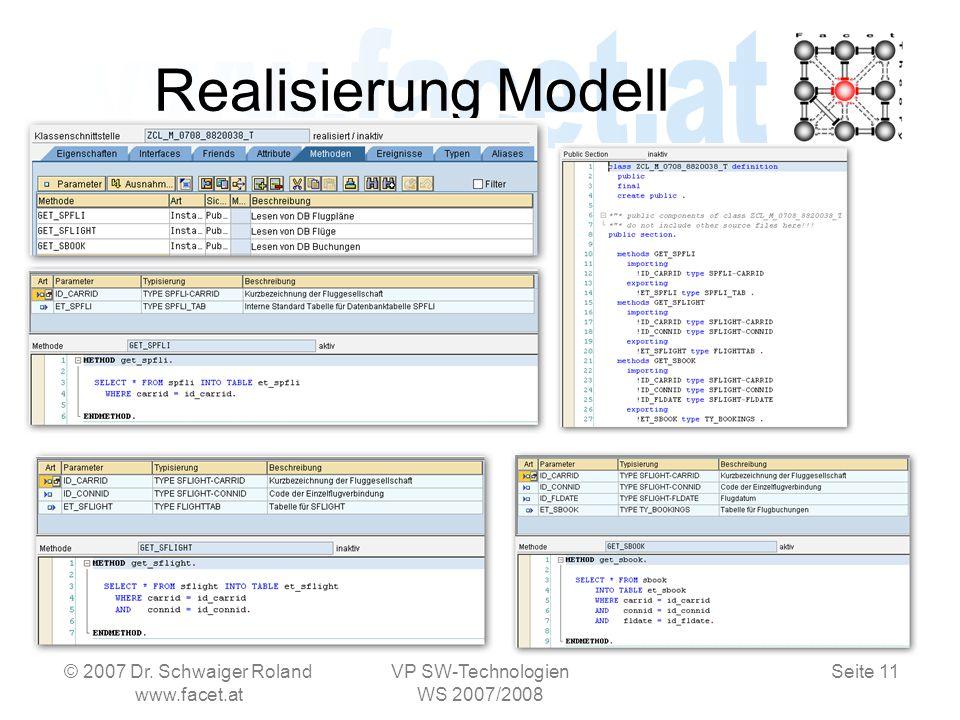 Seite 11 Realisierung Modell © 2007 Dr.