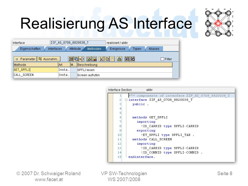 Seite 8 Realisierung AS Interface © 2007 Dr.