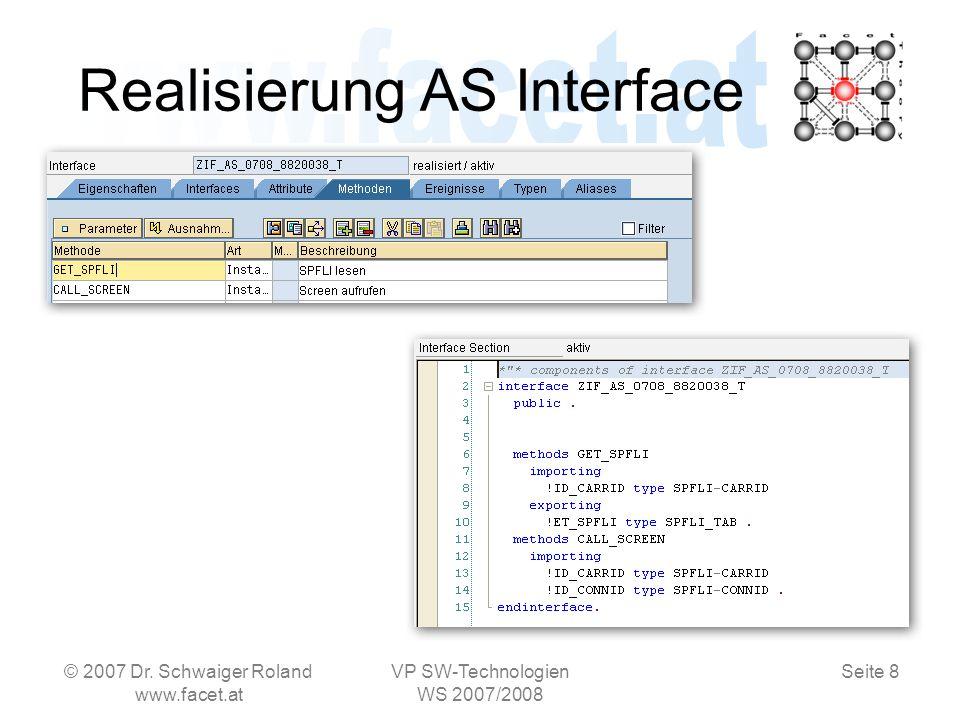 Seite 8 Realisierung AS Interface © 2007 Dr.