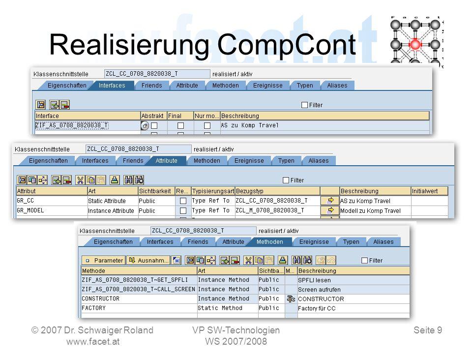 Seite 10 Realisierung CompCont © 2007 Dr.