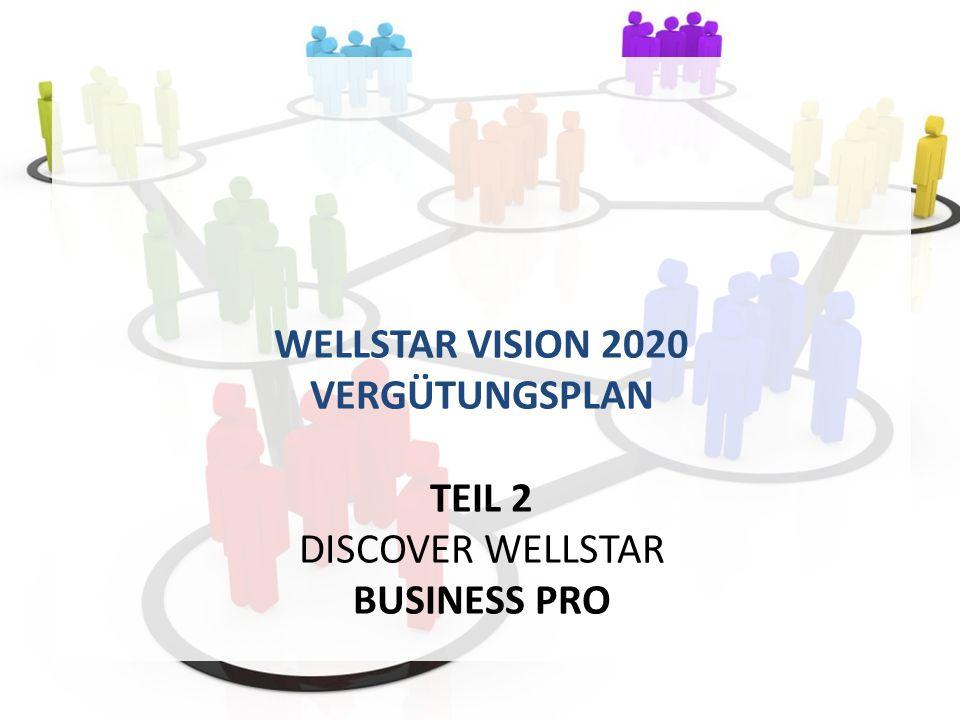 WELLSTAR VISION 2020 VERGÜTUNGSPLAN TEIL 2 DISCOVER WELLSTAR BUSINESS PRO