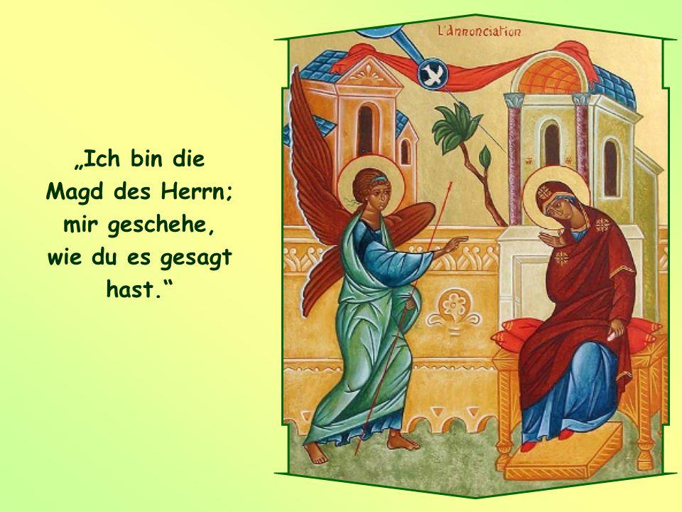 """Mit den Worten von Maria – """"Ich bin die Magd des Herrn"""" – können auch wir auf Gottes Liebe antworten. So sind wir ihm zugewandt, hören auf ihn und geh"""