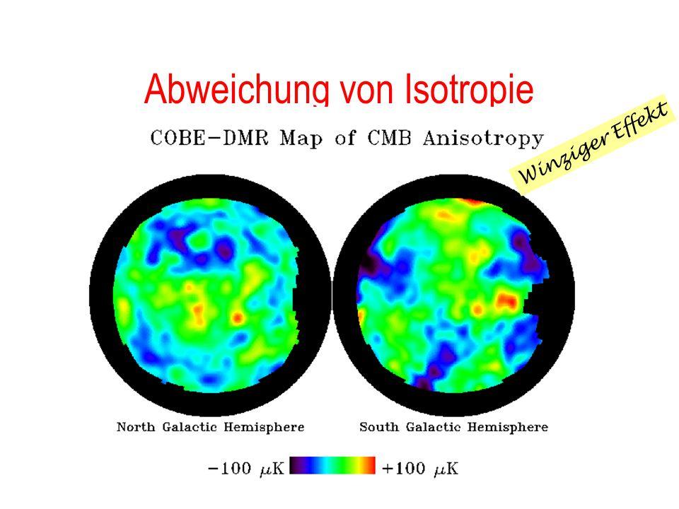 ...der COBE Satellit Messung des Spektrums der Hintergrundstrahlung (Firas) Suche nach Abweichungen (Dirbe) Genauigkeit:  T/T  10 -5 !