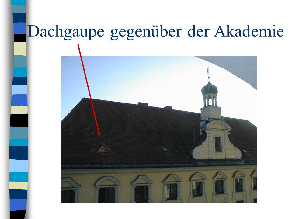 Dachgaupe gegenüber der Akademie