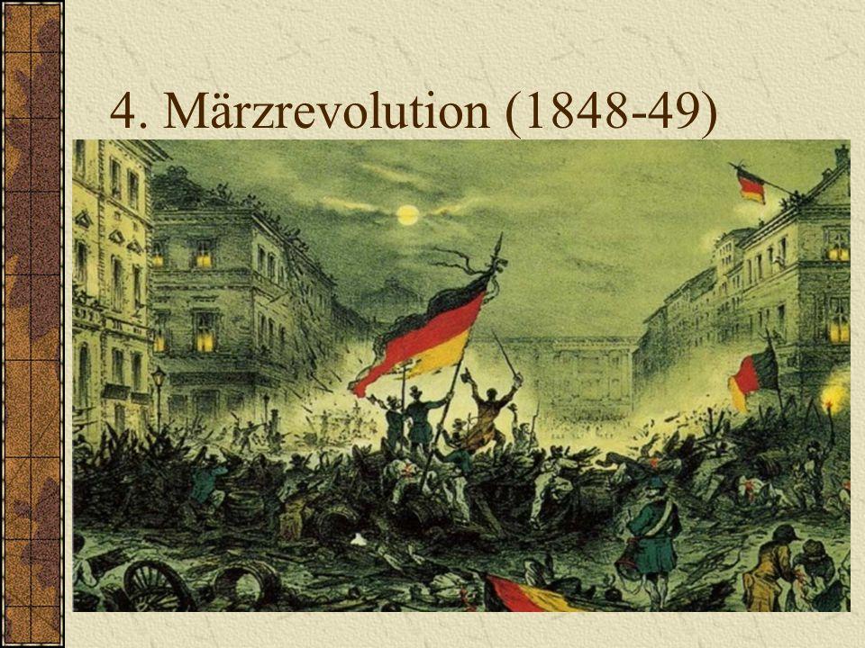 3. Hambacher Fest (1832) Am 27. Mai 1832 versammeln sich ca. 30.000 Menschen am Hambacher Schloß, um für Freiheit Bürgerrechte und nationale Einheit z