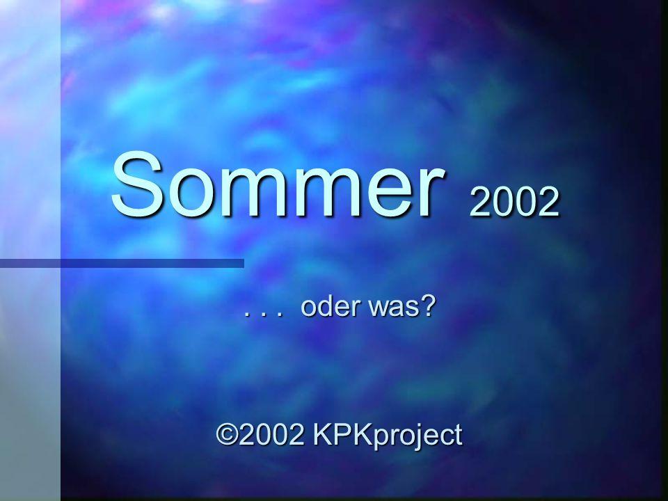 Wie heisst die Antwort auf diesen Sommer 2002 ?