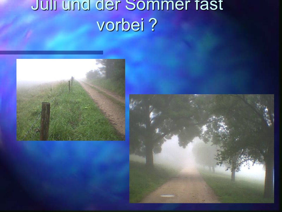 Juli und der Sommer fast vorbei ?