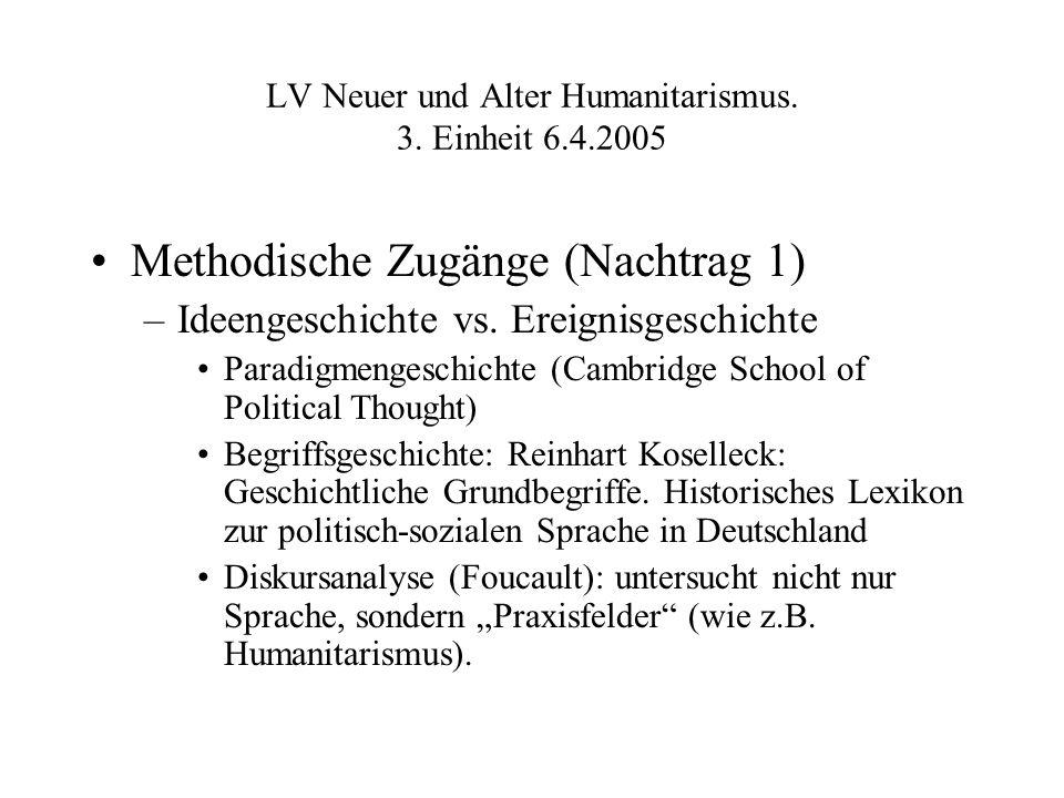 LV Neuer und Alter Humanitarismus. 3.