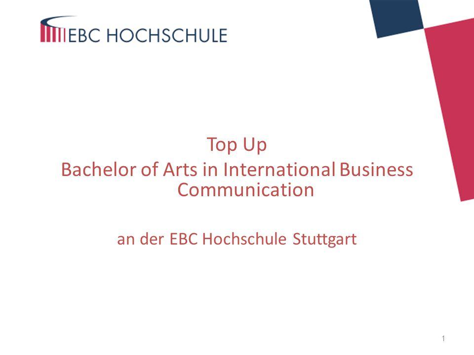 Vorteile des Abschlusses Staatlich anerkannter deutscher Bachelor und damit formaler Zugang zu Masterstudiengängen in Deutschland und im Ausland Genau auf die Ausbildung der ESA zugeschnittenes Aufbaustudium Die EBC Hochschule erkennt die Ausbildung zur ESA und andere gleichwertige Ausbildungen ohne bürokratische Hürden als 90 ECTS credits an und ermöglicht den Zugang ins 4.