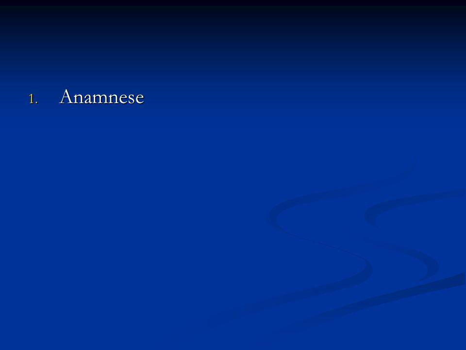 1. Anamnese