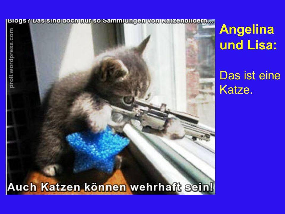 Angelina und Lisa: Das ist eine Katze.