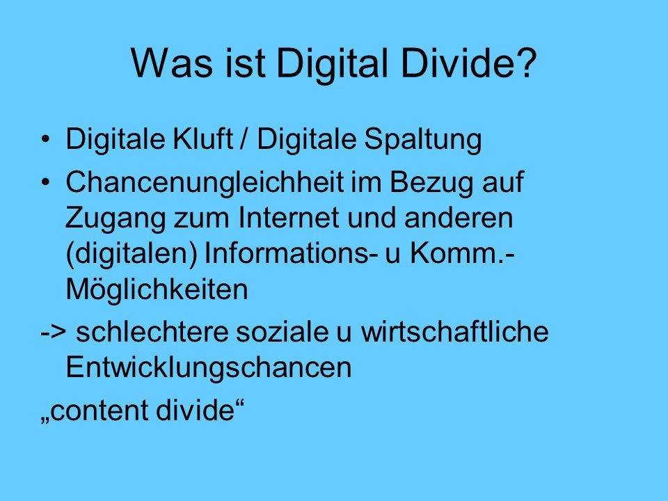 Was ist Digital Divide.