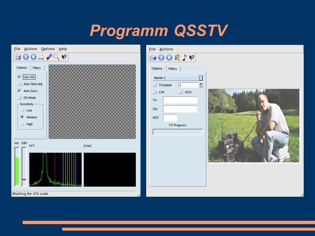 Programm QSSTV