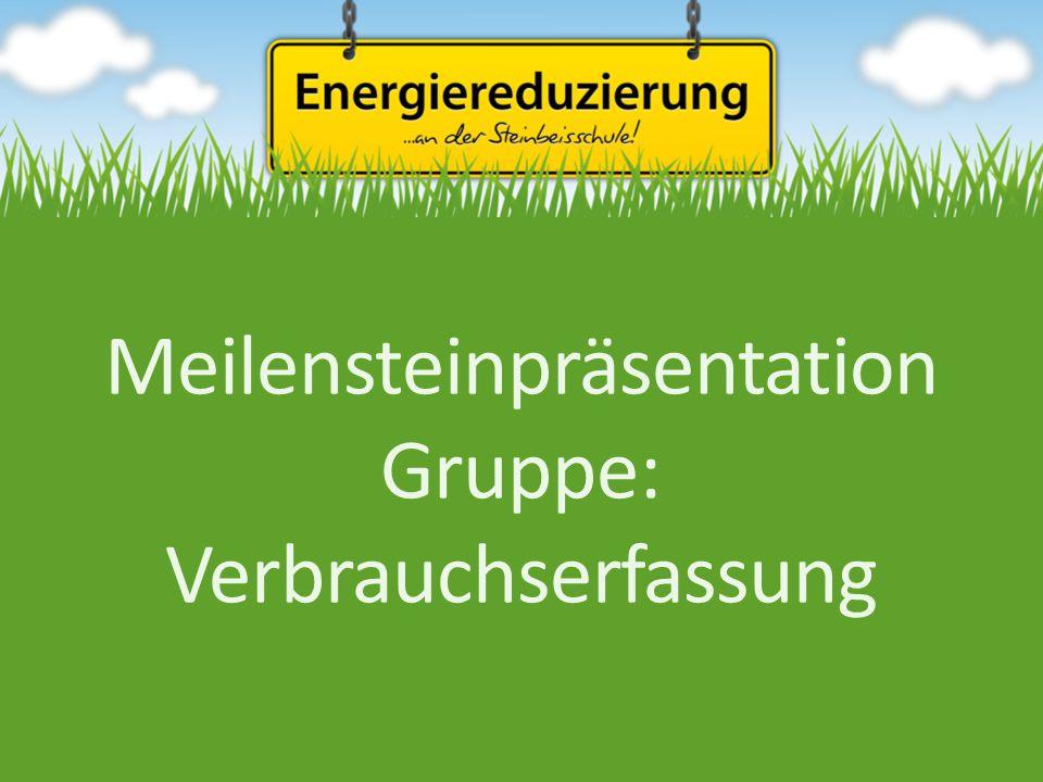 Meilensteinpräsentation Gruppe: Verbrauchserfassung