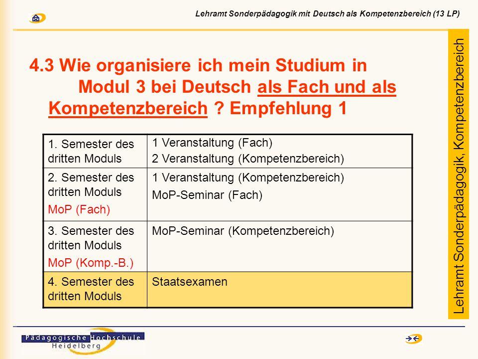 4.3 Wie organisiere ich mein Studium in Modul 3 bei Deutsch als Fach und als Kompetenzbereich .