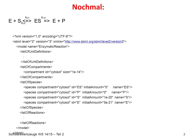 Softwarewerkzeuge WS 14/15 – Teil 2 Details: Einheiten 8 per_seconds := s –1 litre mol s