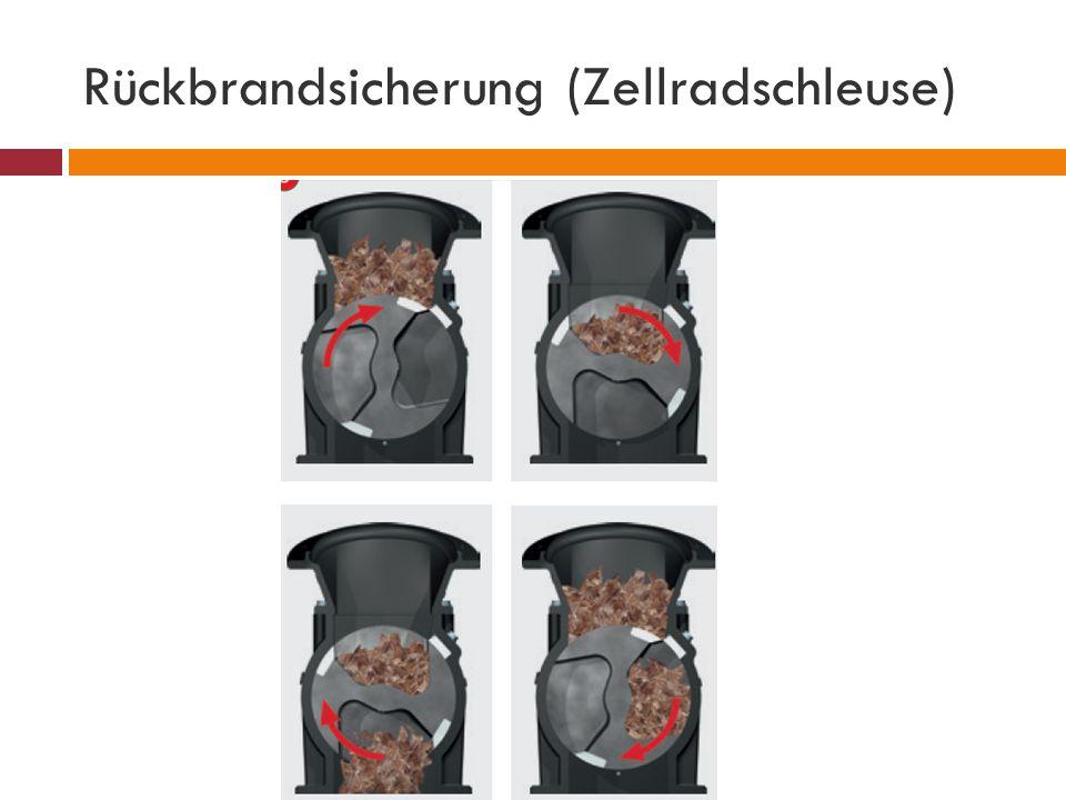 Rückbrandsicherung (Zellradschleuse)
