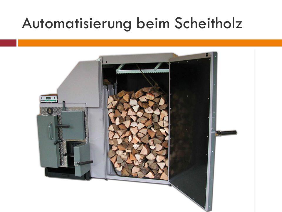 Automatisierung beim Scheitholz