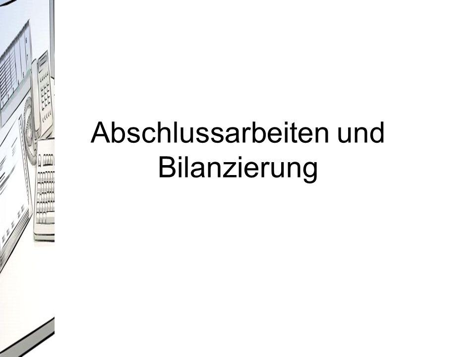 Buchführung - Jahresabschluss 1.Jan31.Dez.