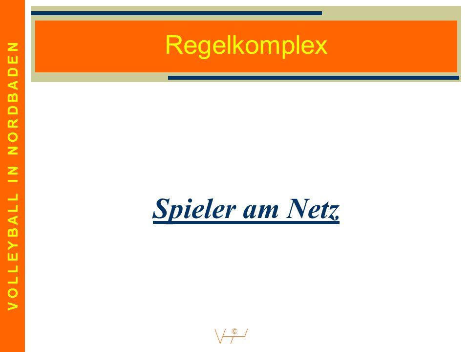 V O L L E Y B A L L I N N O R D B A D E N © Regelkomplex Spieler am Netz