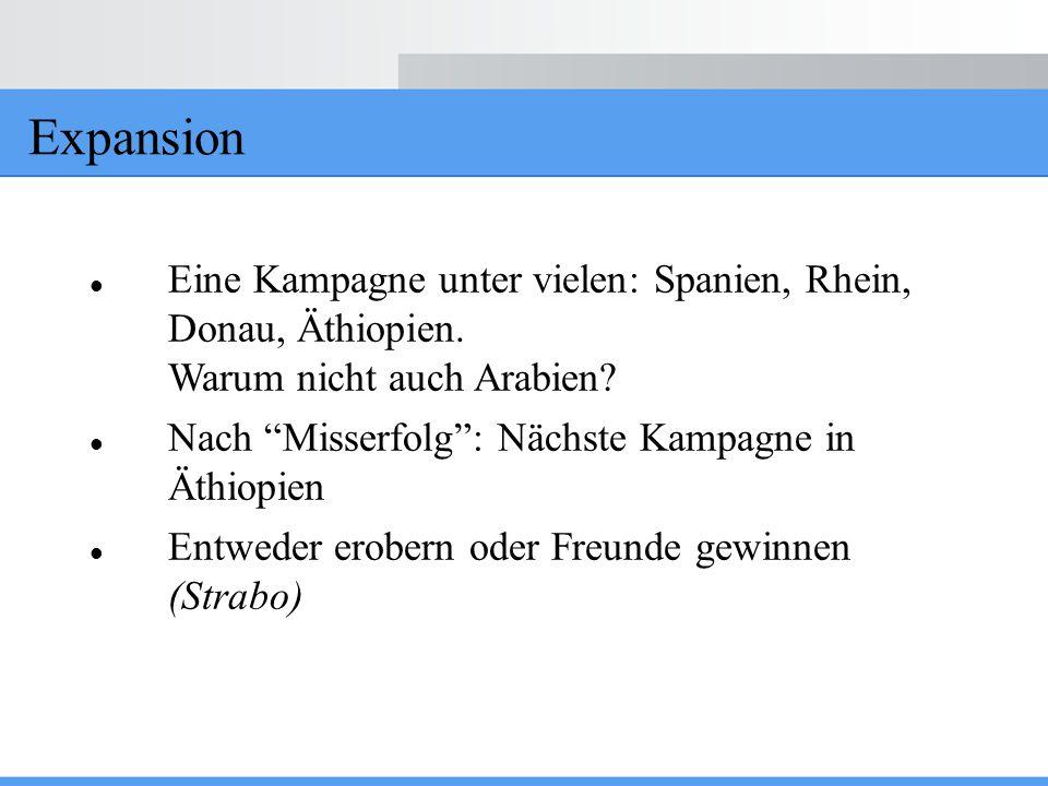 """Expansion Eine Kampagne unter vielen: Spanien, Rhein, Donau, Äthiopien. Warum nicht auch Arabien? Nach """"Misserfolg"""": Nächste Kampagne in Äthiopien Ent"""