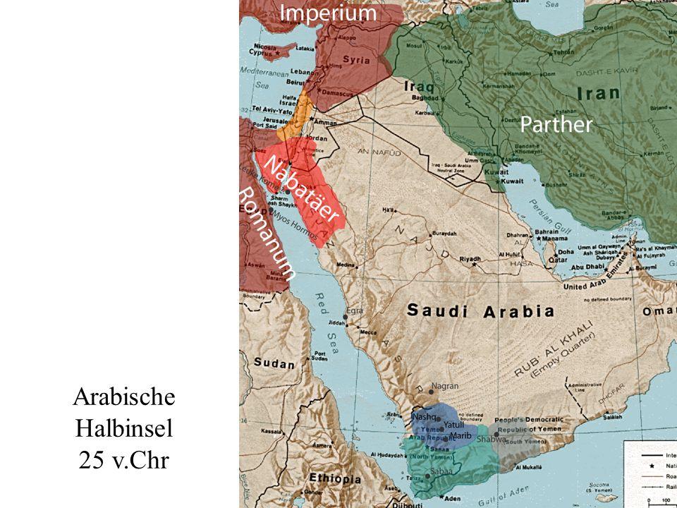 Übersicht Arabische Halbinsel 25 v.Chr