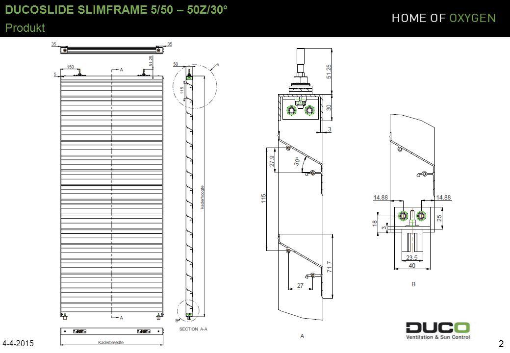 DUCOSLIDE SLIMFRAME 5/50 – 50Z/30° 13 5.Die Lamellen sägen und montieren.
