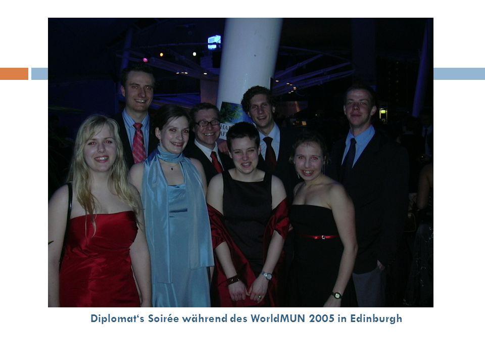 Diplomat's Soirée während des WorldMUN 2005 in Edinburgh