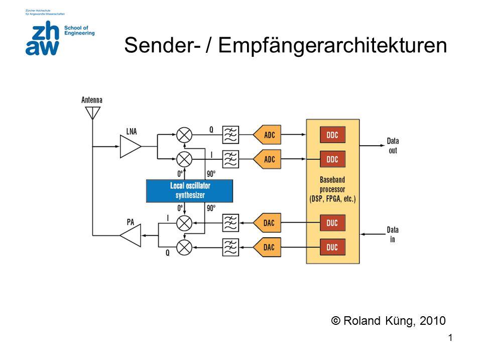 1 Sender- / Empfängerarchitekturen © Roland Küng, 2010