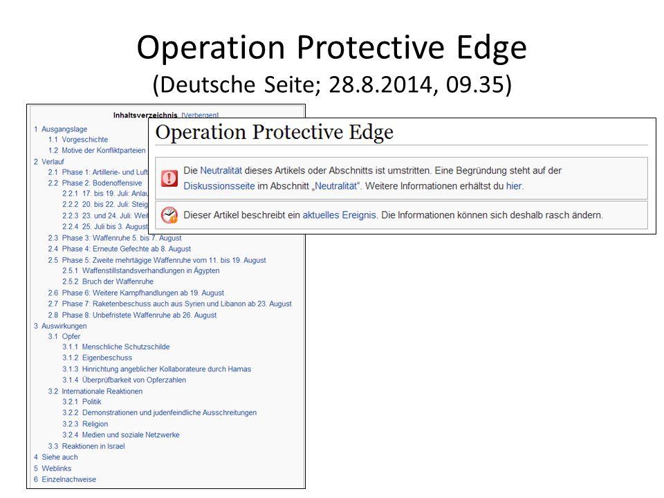 Operation Protective Edge (Deutsche Seite; 28.8.2014, 09.35)